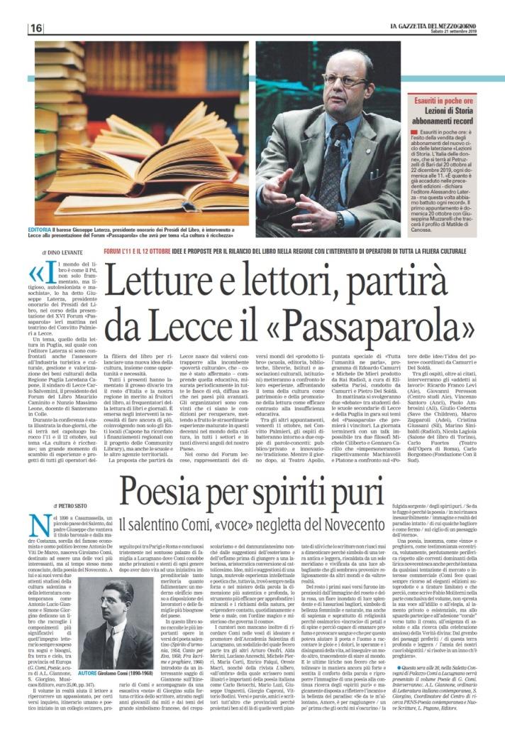 Passaparola 2019 articolo