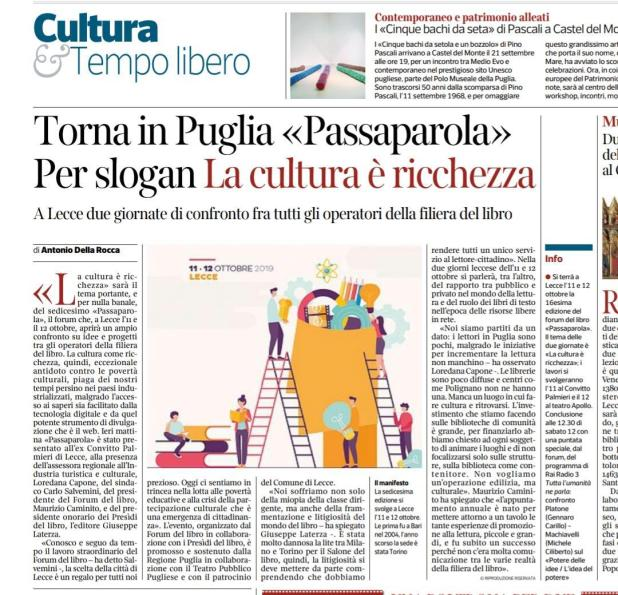 Passaparola 2019 articolo1