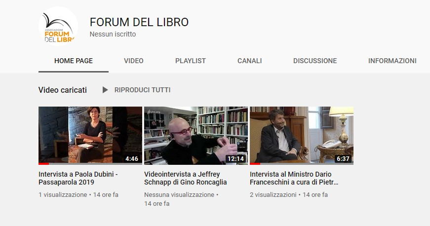 YouTube Forumdellibro
